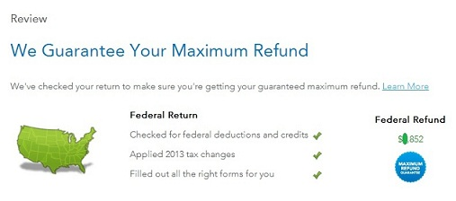 Tax return refund