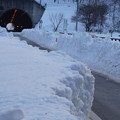 雪残る国道