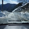 除雪車により広がった道路