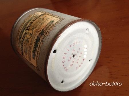 リメ缶 セリアスタンプ
