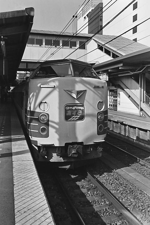 198602八王子駅_183系特急あずさ
