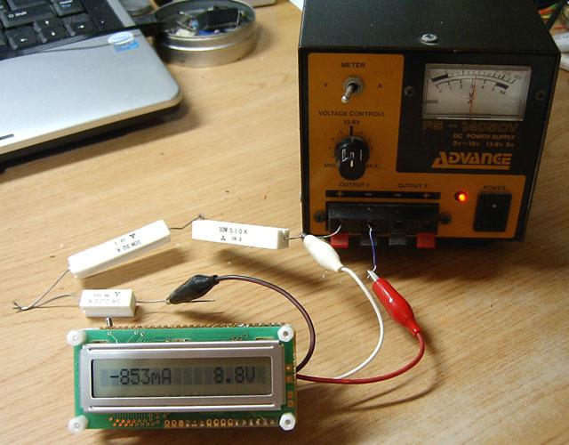 電圧_電流計実験中
