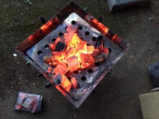 炭マシンほっけ準備
