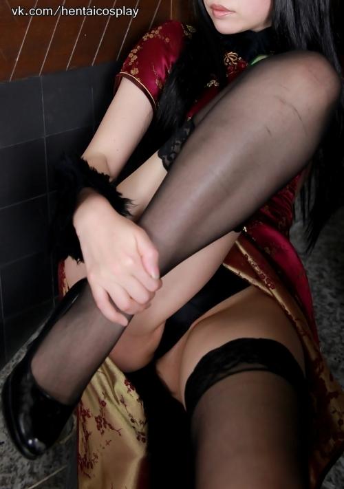 日暮りん 猫耳 チャイナドレス コスプレ 38