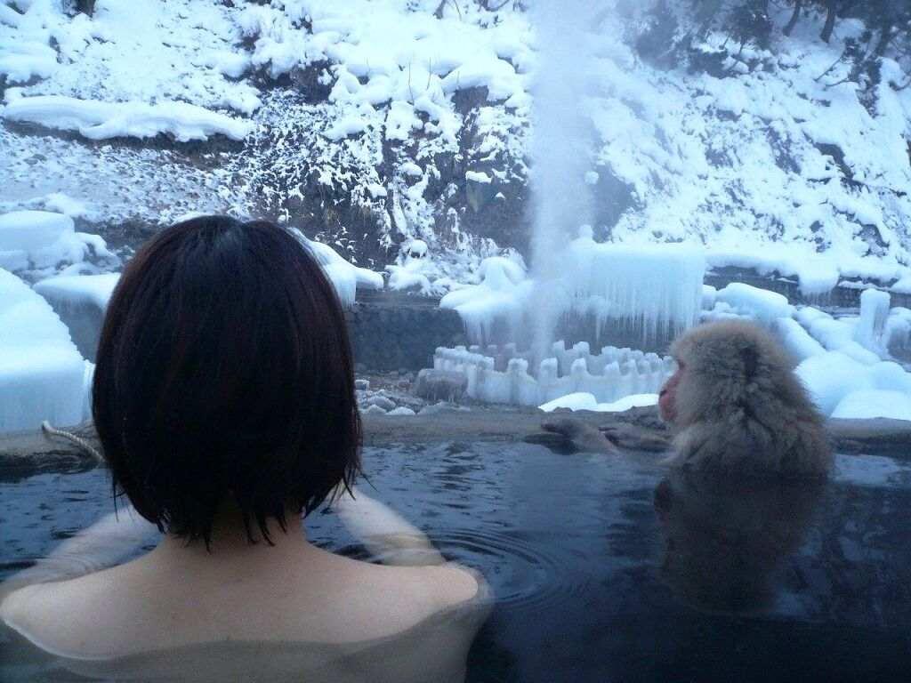 混浴露天風呂で撮影した彼女のハダカ画像 15