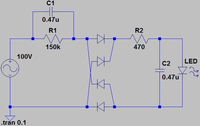 led 照明 自作 100v 回路 図