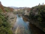 長篠の橋の上