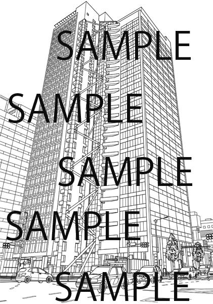 会社ビル・企業ビル・高層ビルのイラスト