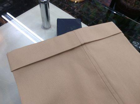 オーダーアイビーパンツのWカフス幅3.5cm