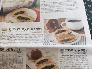 日経新聞どら焼きベスト10に足立区喜多屋のどら焼き3位
