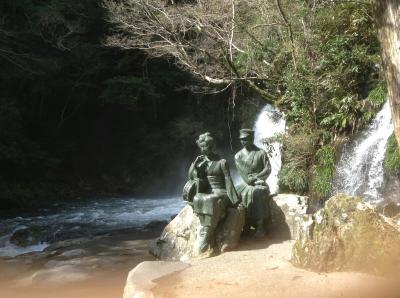 河津七滝銅像