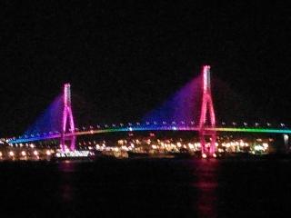 釜山北港大橋ライトアップ