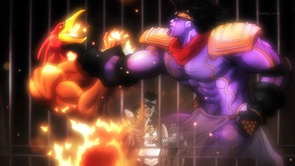1 スタープラチナ マジシャンズレッド 格闘