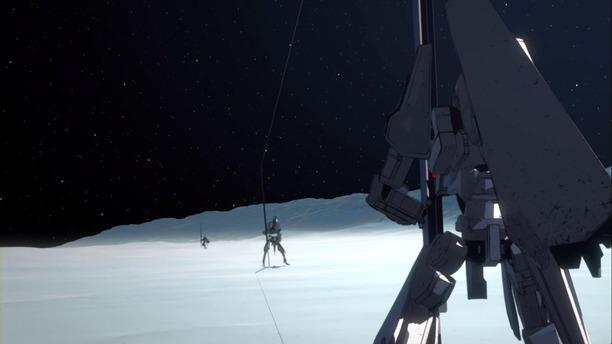 1 衛人 二機 氷塊に採掘機 打ち込む