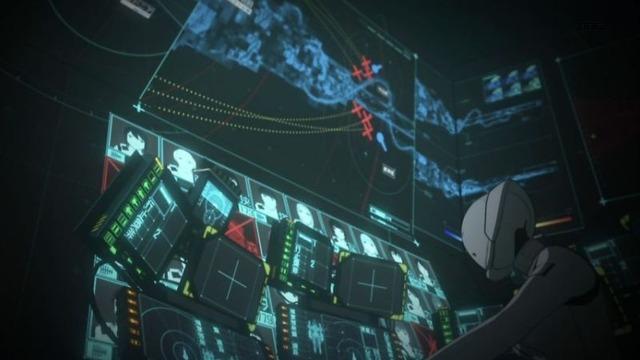 7 指令室 モニター 連結型奇居位 尾部切断計画