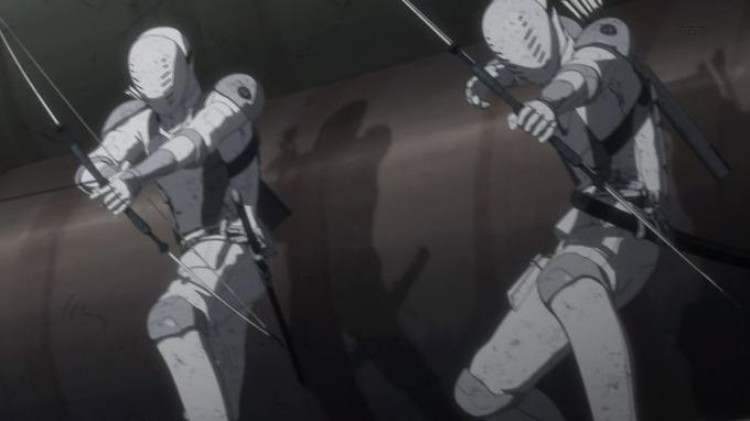 8 保安部員 弓矢