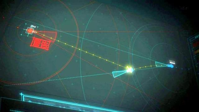 11 指令室モニター 回避軌道図