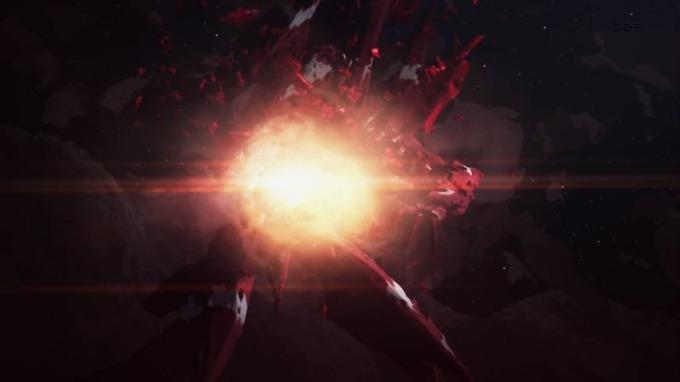 12 紅天蛾 腹部にロケットパンチ直撃