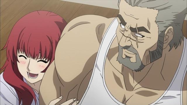 4 赤毛 リンカ父の肩に手 嬉しそう