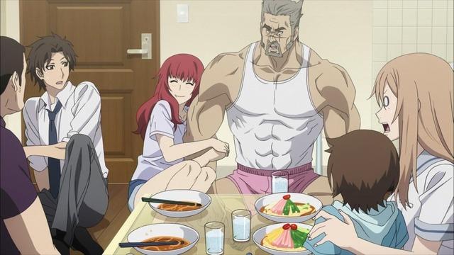 4 赤毛 リンカ父の腕にしがみつく リンカ 目が白い 紫 京太郎 セガール