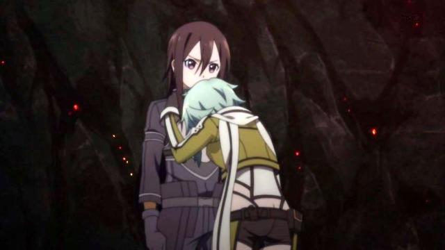 SAO 10 シノン キリトに泣きつく