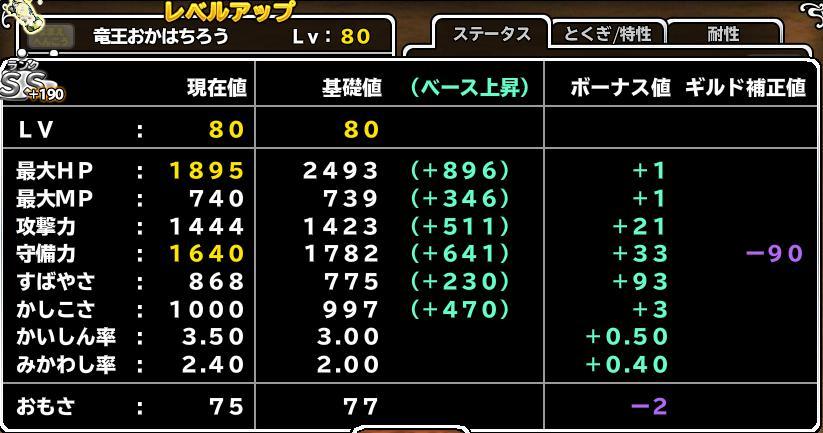 竜王+190 Lv80