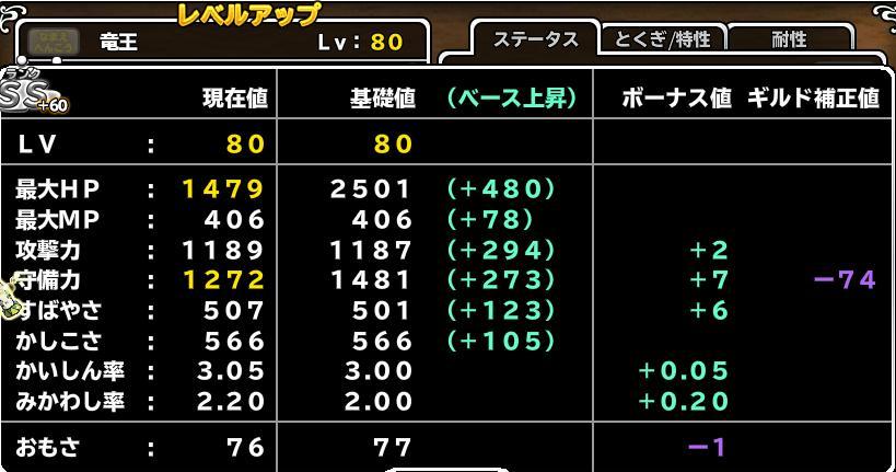 竜王+60 Lv80