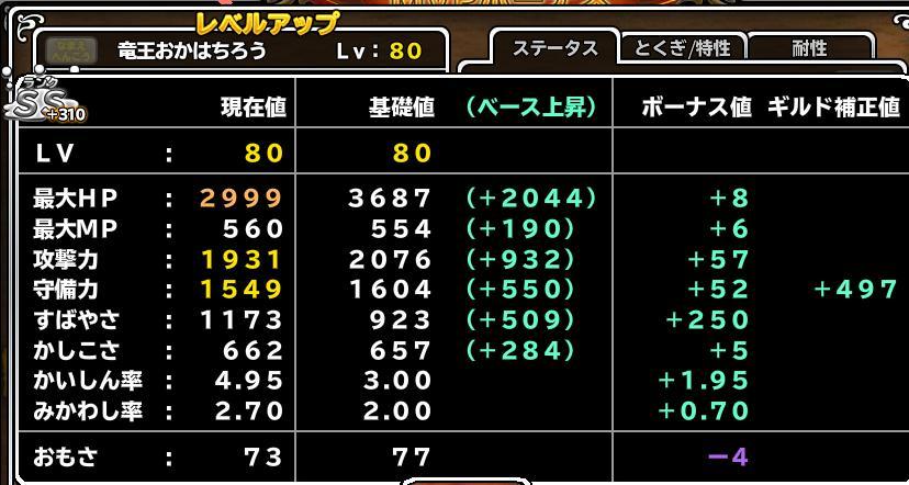 竜王+310 Lv80