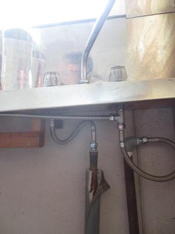 桐生3階キッチン給水管