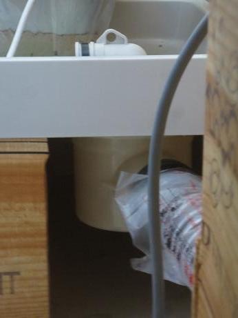 桐生3階洗濯機置き場排水