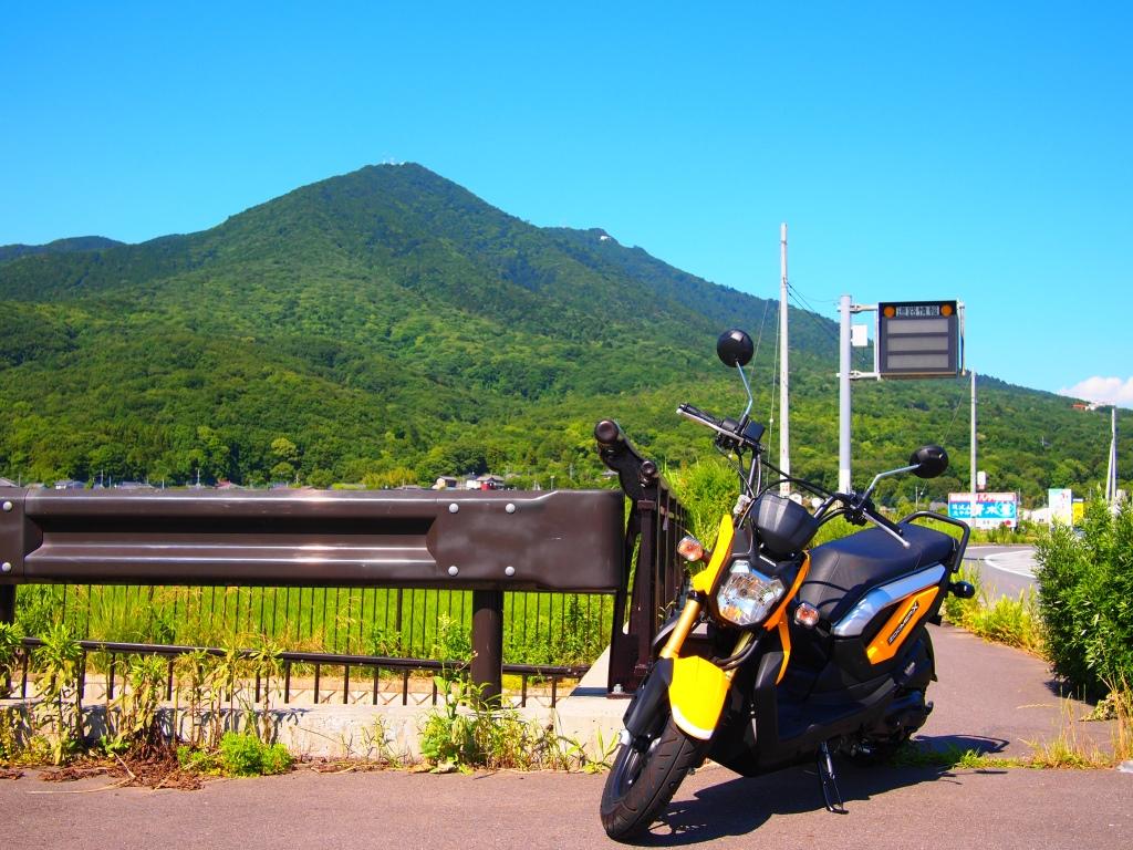 ズーマーXと筑波山