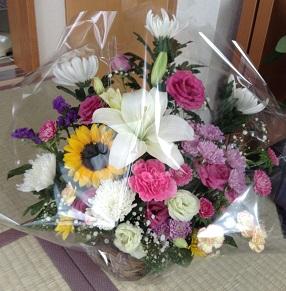 かわいいお花をいただきました^^