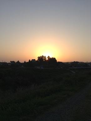 朝陽が・・・