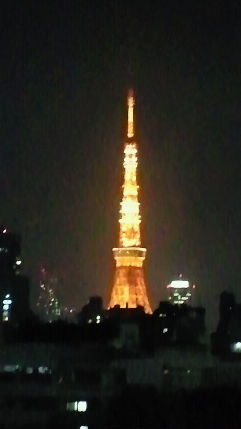 ヒルズから見た東京タワー