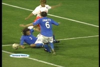 W杯 サッカー イタリア 韓国 頭蹴る
