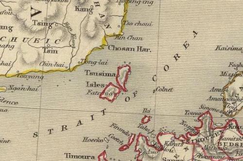 2013対馬は韓国領土古地図1