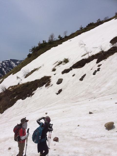 焼岳 春山 登山