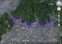 琵琶湖疏水と旧東海道W(GE)