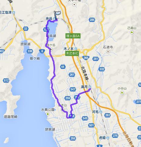 浪速例会・古戦場と奥琵琶湖の眺望