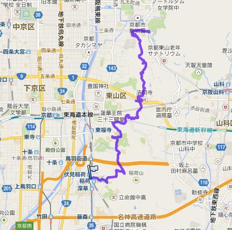 京都一周トレイル・東山コース①