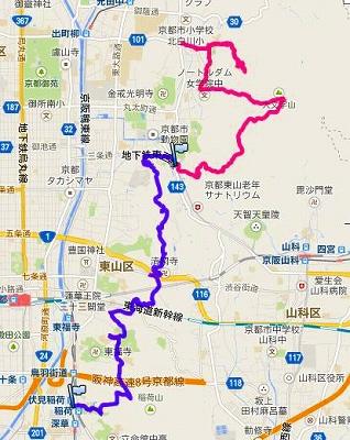 京都一周トレイル・東山①②