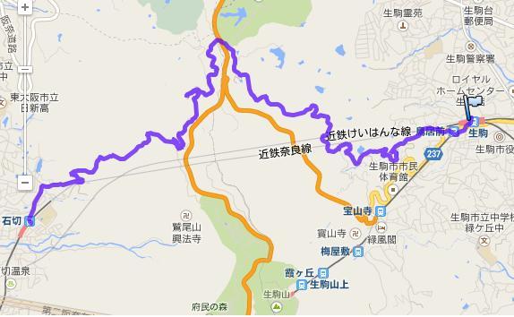 浪速例会・生駒山登山道・森林浴W