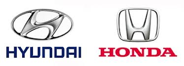ヒュンダイとホンダのロゴ