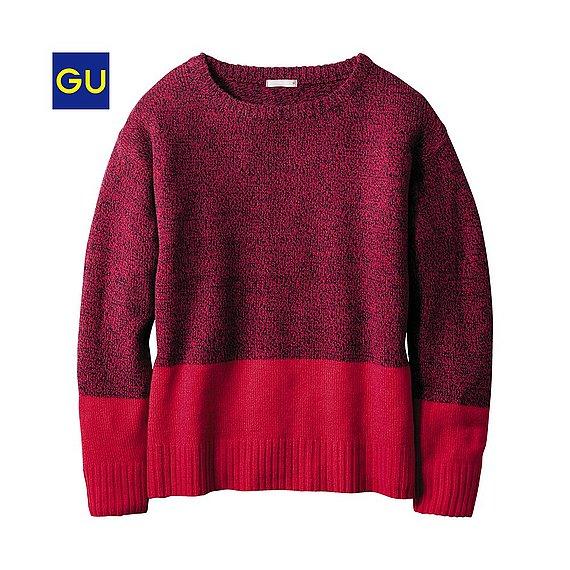 GUのメランジセーター