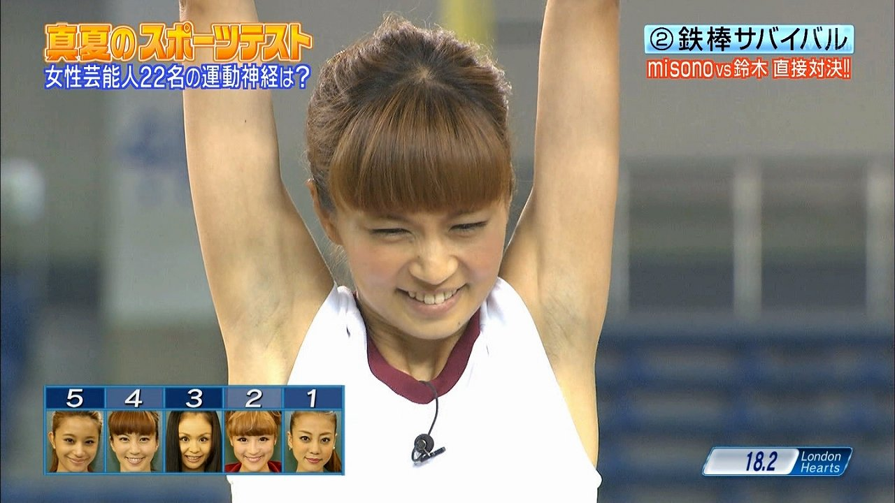 安田美沙子の腋が黒すぎる