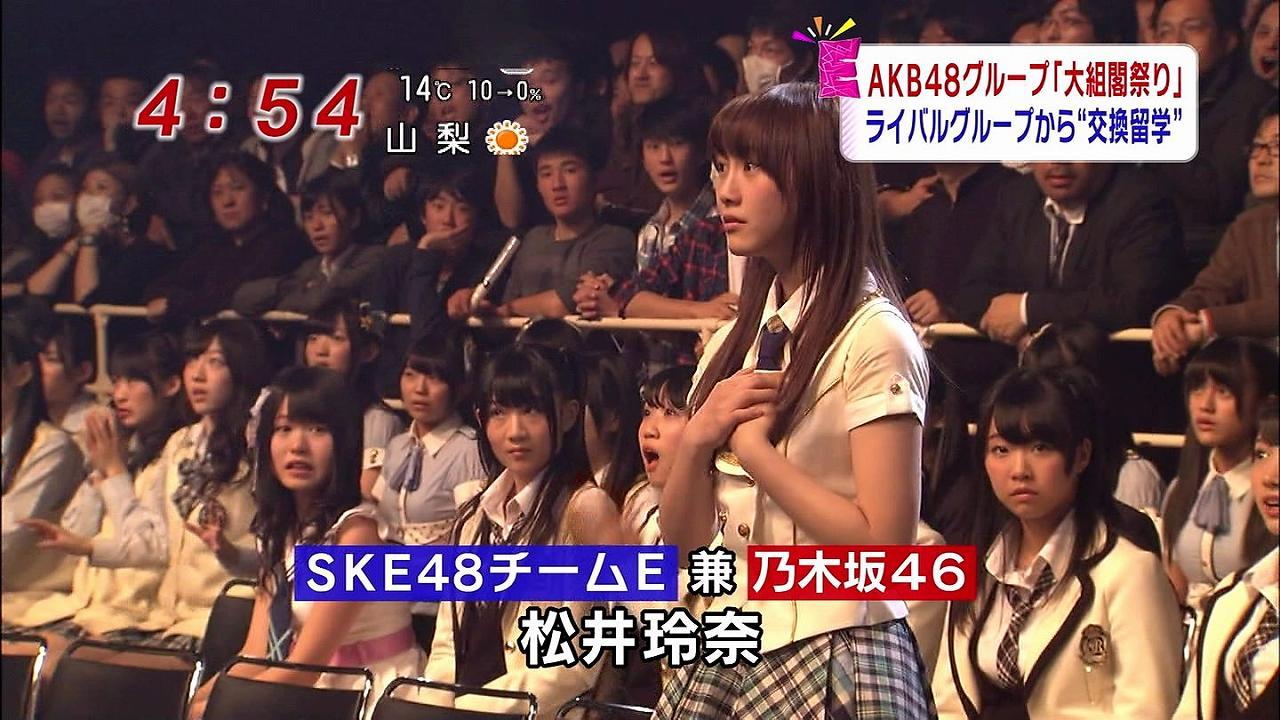 大組閣祭りで乃木坂46との兼任が発表された松井玲奈