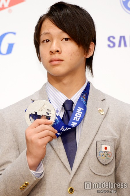 ソチ五輪日本代表選手団の会見、平野歩夢選手