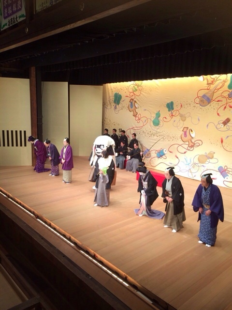 「古典への誘い」の熊本公演にて愛娘、麗禾ちゃんのお披露目、くまモンも