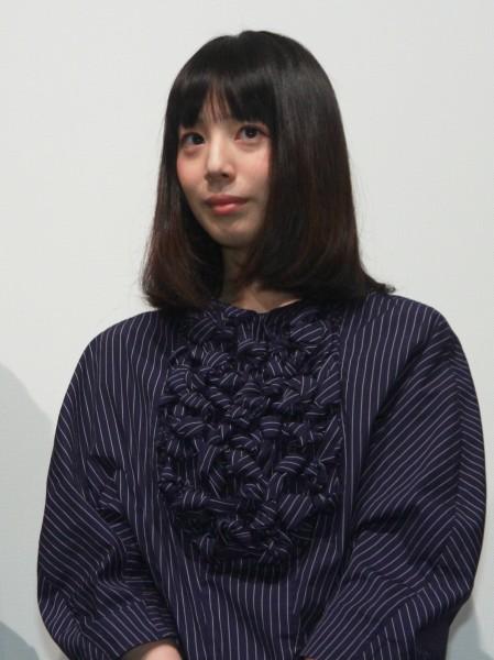 映画「パズル」初日舞台あいさつの夏帆