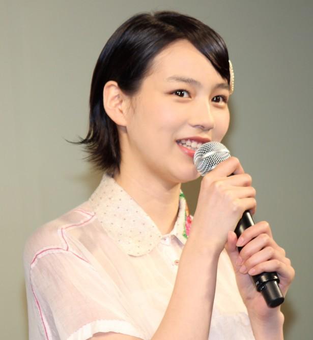 映画『ホットロード』の製作報告会見での能年玲奈
